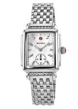 Michele Deco 16 Diamond Dial MWW06V000002 Wrist Watch for Women Silver