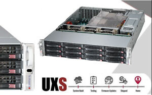 Details about UXS Server 2U Supermicro 12 Bay SAS2 2x E5-2630 V2 128GB RAM  JBOD 6GB/s UNRAID