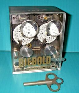 Details about VINTAGE 1947 DIEBOLD 2- MOVEMENT 120 HOUR TIME LOCK FOR SAFE  OR VAULT