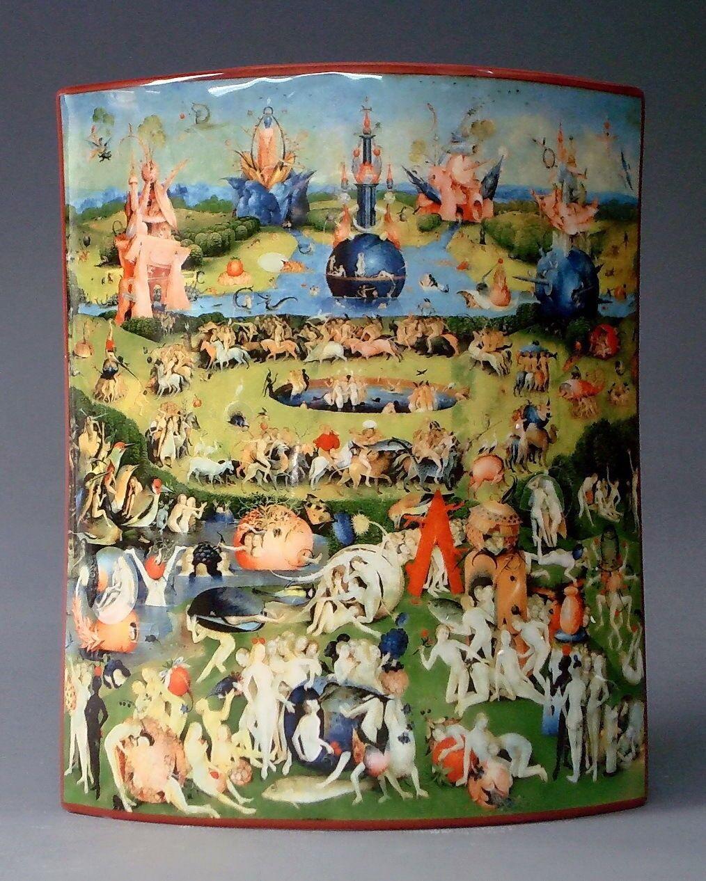 Museo jarrón -  Hieronymus Bosch-jardín de la  pornográfico-Designer jarrón -  nuevo