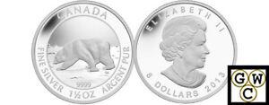 2013-Proof-1-5oz-039-Polar-Bear-039-8-Silver-Coin-9999-Fine-13325