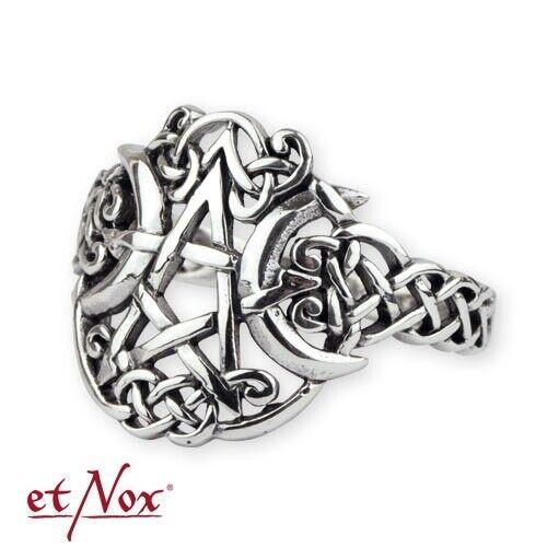 """Beliebte Marke Etnox - Ring """"mond-pentagramm"""" 925 Silber QualitäTswaren"""