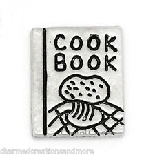 10pc Lot Cook Book Food Recipes Cooking Baking Floating Charm For Memory Locket