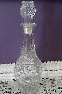 VINTAGE-ANCHOR-HOCKING-CLEAR-GLASS-WEXFORD-14-1-2-034-WINE-WHISKEY-DECANTER