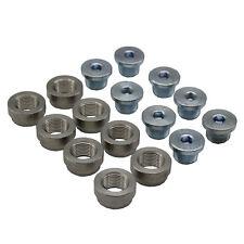 O2 Oxygen Sensor 8 Sets Weld on Stepped Nut & Cap Bung Extension Kits M18*1.5