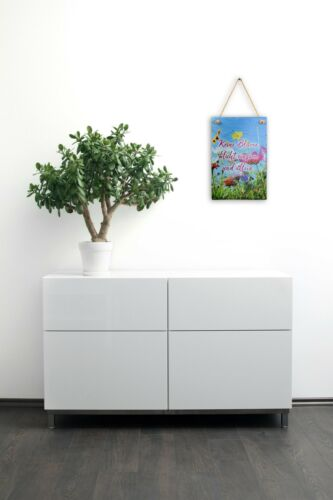 Wandbild Sommerlaune aus Schiefer mit Spruch und Motiv Wand Deko für Zuhause