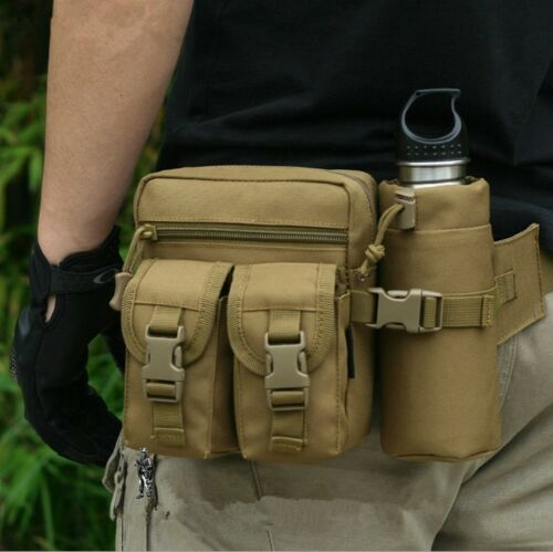 Men Hot Outdoor Tactical Hiking Canvas Fanny Waist Bag Portable Nylon 1000D