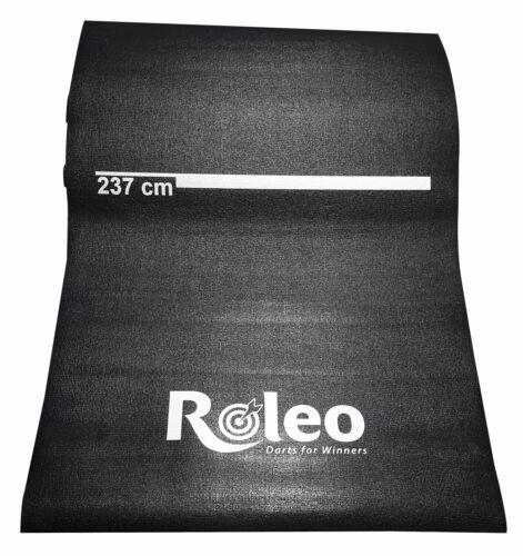 Roleo Dartmatte Teppich rutschfest schwarz mit Abstandsmarkierung
