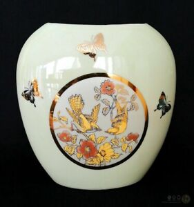 VTG-Otagiri-Japan-Style-Ovoid-Vase-Birds-And-Butterflies-FREE-Delivery-UK