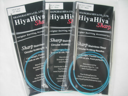 "32/"" Sharp Steel Circular Knitting Needles HiyaHiya 7.0mm x 80cm"