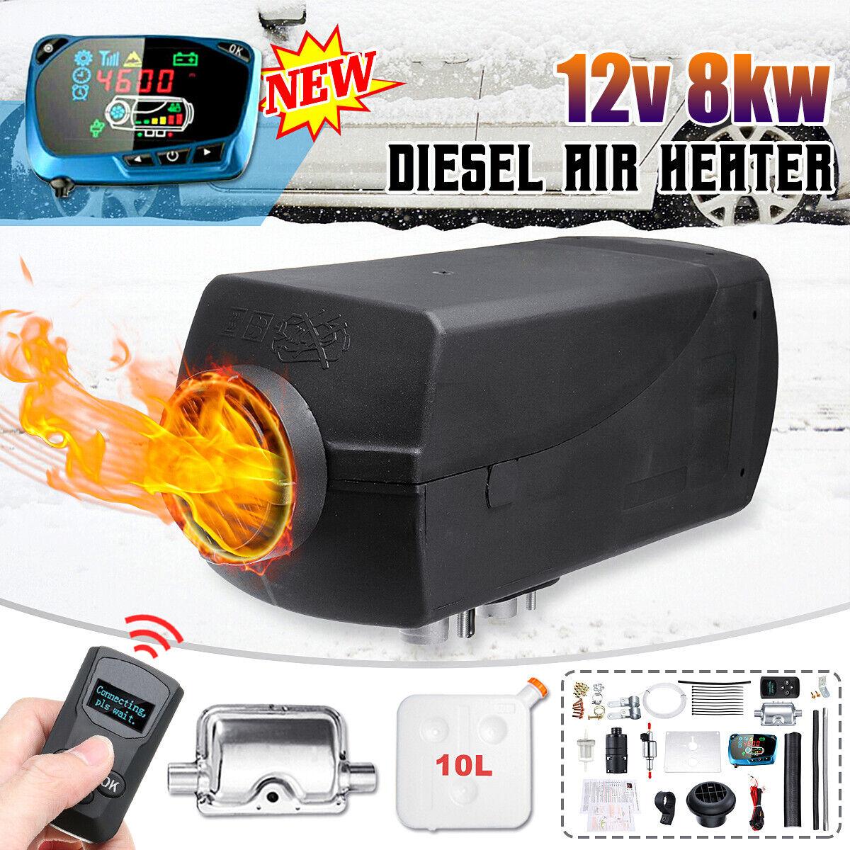 Auto Réchauffeur d/'air Diesel Air Heater 8KW 12V LCD Thermostat Car Boat Truck