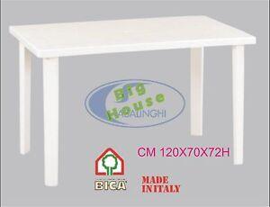 Tavolo Da Giardino 120 X 70.Tavolo In Plastica Da Giardino Terrazzo 120x70 H72 Col Bianco Verde