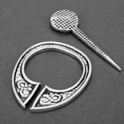Mittelalterliche Hohl Pin Viking Brosche Schürze Schnalle Umhang Celtic Jewelry