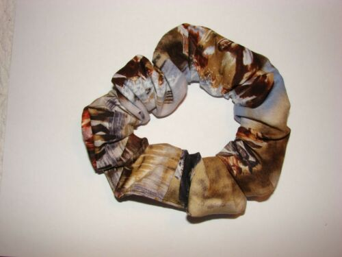 Details about  /HORSES paints appy palominos gray fabric hair scrunchie equine horse western
