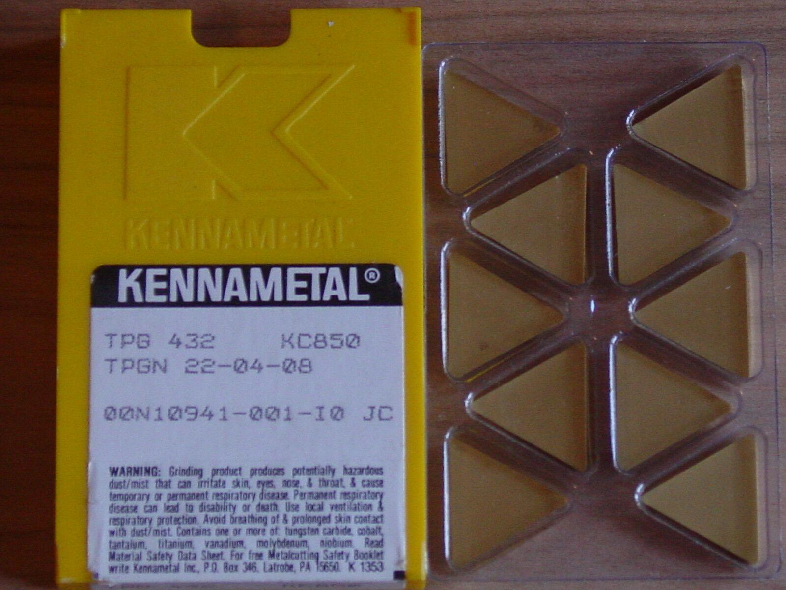TPG 432  Kennametal  KC850 Carbide Inserts 5 pcs
