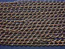 6' Antique bronze plated bulk twist cable link 5.5x3mm necklace extenders ch097