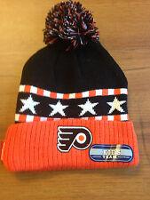 Hockey Philadelphia Flyers Cuff Pom Knit Hat REEBOK NHL Hat Flyers Hockey NWT