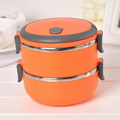 Stainless Steel Portable Insulation Thermal Lunch Box Food Container Handle