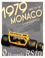 Vintage 1979 Monaco Grand Prix Auto Racing Poster Print Style B 36x28