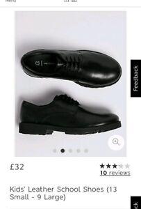 Spencer Leather Boys School Shoes Black