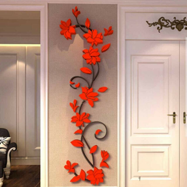 3D Flower Removable Vinyl Quote DIY Wall Sticker Decal Mural Home Decor US