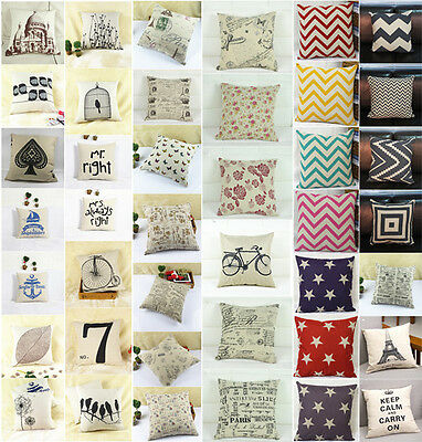 "Fashion linen Throw Pillow Cases Home Decorative Cushion Cover Square 16.5"" HG3"