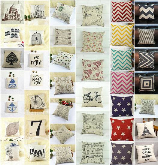 """Fashion linen Throw Pillow Cases Home Decorative Cushion Cover Square 16.5"""" HG3"""