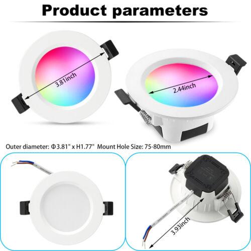 10x RGBWC Bluetooth WIFI LED Einbaustrahler Einbau-Leuchten Lampen Spots Decken