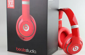 31f45a0602b BRAND NEW Beats Studio 2.0 Over Ear Headphones Wired RED Noise ...