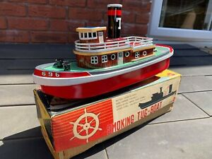 Sunrise-Toys-Smoking-Tugboat-In-Its-Original-Box-Excellent-Working-Model-Rare