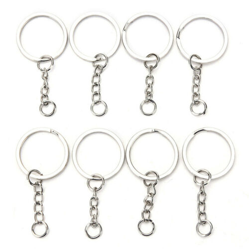 50PCS DIY Polished Silver Key Rings Key Chain Split Ring 30MM Jewelry Finding /_T