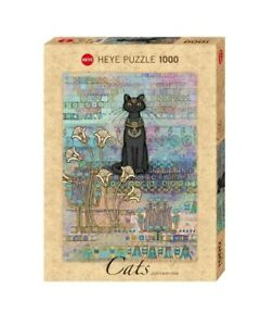 (HY29536) - Heye Puzzles - 1000 Pc - Cats Egyptian