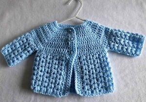Crochet Baby Cardigan New 3 6 Months Ebay