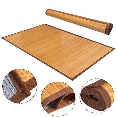 5' X 8' Bamboo Area Rug Floor Carpet Natural Bamboo Wood Indoor Outdoor New