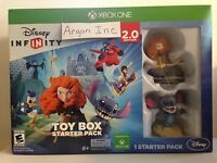 Disney Infinity 2.0 Toy Box Starter Pack Xbox One Game Bundle Sealed