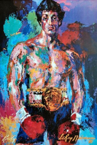 A4 Rocky Balboa Movie Prop Painting Poster A3 FREE UK POSTAGE
