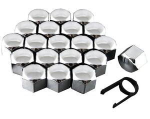 20 Car Bolts Alloy Wheel Nuts Covers 19mm Chrome For  Vauxhall Vivaro