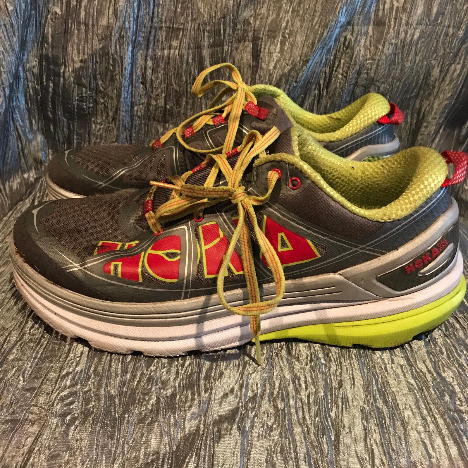 Women's Hoka One One Constant 2 Grey Acid 1009641 GAC Running Shoes 10.5