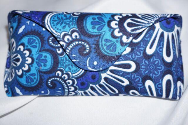 5f75fe82a2ab Vera Bradley Hard Eyeglass Sunglass Case Blue Tapestry for sale ...