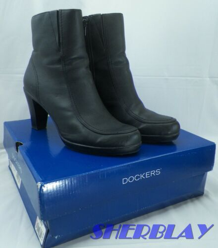 WOMENS DOCKERS DKRADER BLACK SYNTHETIC BOOTS SHOES