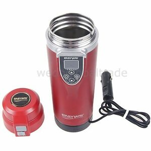 RED Car Electric Heated Cup Kettle Travel Intelligent Unfreezing Mug Heating