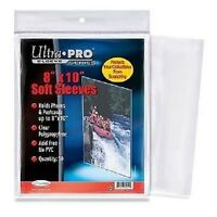 (100) Ultra Pro 8 X 10 Soft Photo Sleeves 8x10 Acid Free No Pvc Clear Poly