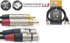 Adapter Kabel 2 x Chinch auf  2 x XLR  female -3m - Premium Serie N  Audiokabel