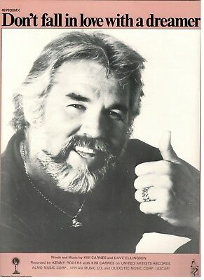 """KENNY ROGERS/KIM CARNES """"DON'T FALL IN LOVE WITH A DREAMER ..."""