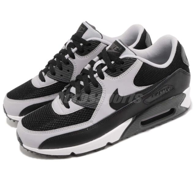 size 40 3a296 405de Nike Air Max 90 Essential Black Wolf Grey Mens Running Shoes 537384-053