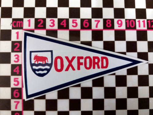 1960/'s Style Oxford Holiday Pennant Retro Classic Car Window Sticker