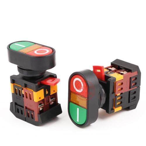 APBB-22 Yellow Light ON//OFF START STOP Momentary Push Button Switch 22mm 1 NO NC