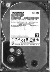 TOSHIBA DT01ACA200 2TB SATA HARD DRIVE HDKPC09A0A01 S AA00 / BB0   eBay