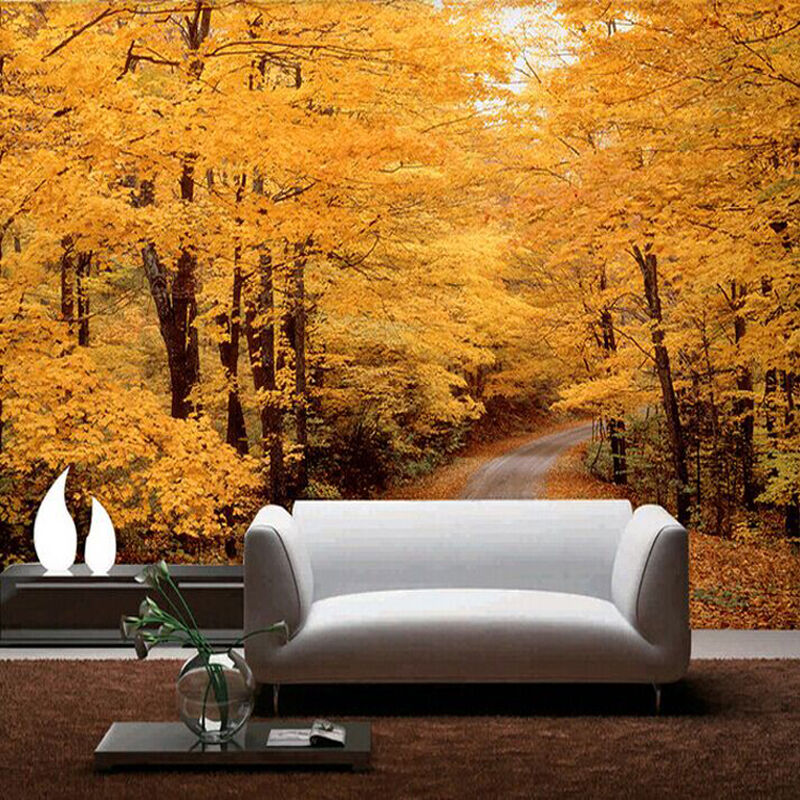 3D golden woods trail  WallPaper Murals Wall Print Decal Wall Deco AJ WALLPAPER