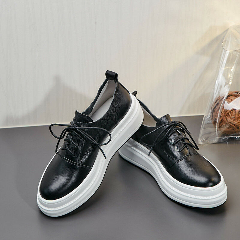 FASHION Women Causal shoes Soft Soft Soft Leather Flats Athletic Comforty Sports shoes 458398
